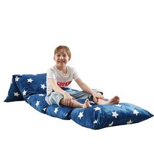 Loungie Floor Pillow Navy Bean Bag Chair