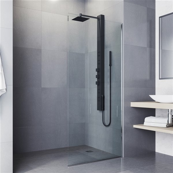 Panneau de douche à 4 jets haute pression Sutton noir mat de Vigo