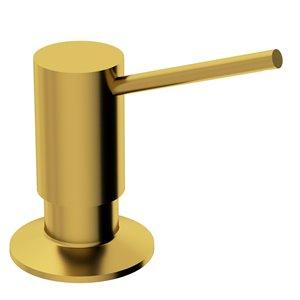 Distributeur à savon et à désinfectant doré brossé mat Braddock de Vigo