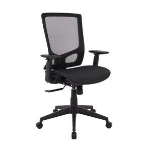 Chaise de bureau Tygerclaw ergonomique, contemporaine et pivotante noire, à hauteur réglable