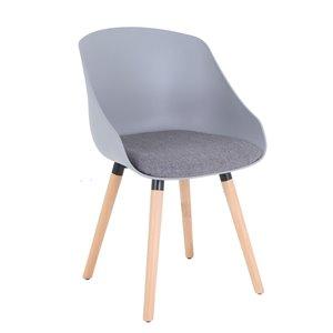 Chaise de bureau Tygerclaw grise ergonomique et contemporaine
