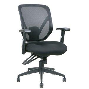 Chaise de bureau de Tygerclaw pivotante, contemporaine et ergonomique, à hauteur réglable, de couleur noire