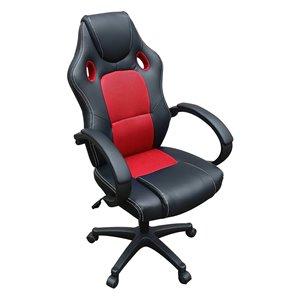 Chaise de bureau deTygerclaw pivotante noire, contemporaine et ergonomique, à hauteur réglable