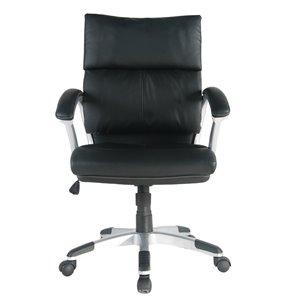 Chaise de bureau Tygerclaw noire, ergonomique, contemporaine et pivotante à hauteur réglable
