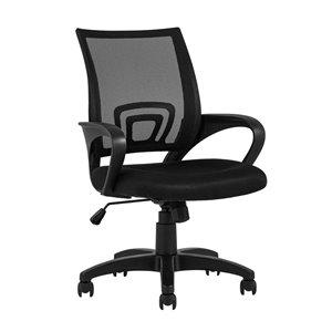 Chaise de bureau Tygerclaw, ergonomique, contemporaine et pivotante à hauteur réglable (noire)