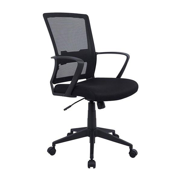 Chaise de bureau Tygerclaw noire, contemporaine et ergonomique, pivotante à hauteur réglable