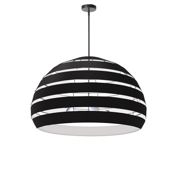 Lustre moderne/contemporain Hula noir à 4 lumières par Dainolite