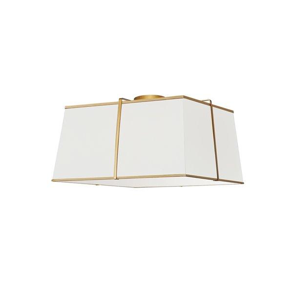 Plafonnier Trapezoid de 16 po blanc à ampoule à incandescence de Dainolite