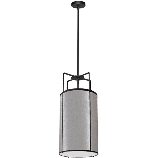 Luminaire suspendu moderne/contemporain gris Trapezoid par Dainolite de 12 po