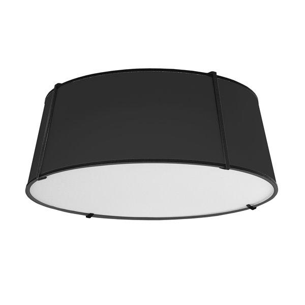Plafonnier Trapezoid de 22 po de style moderne/contemporain noir à ampoule à incandescence de Dainolite