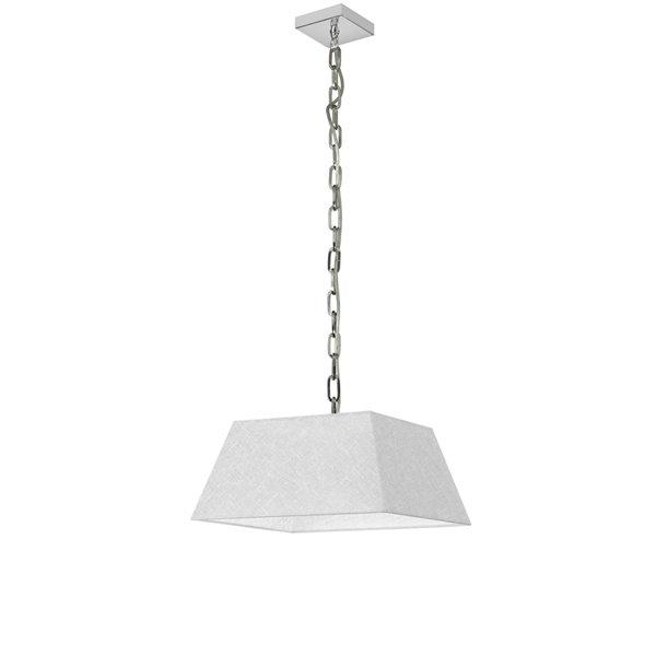 Luminaire suspendu moderne/contemporain carré blanc Milano par Dainolite de 14 po