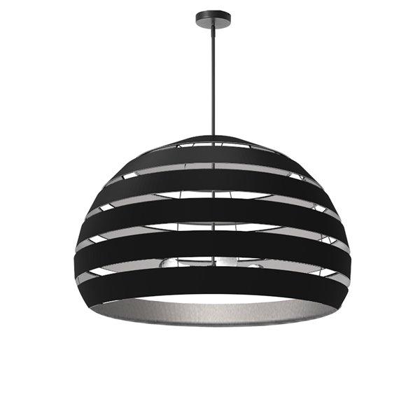Lustre moderne/contemporain Hula noir et argent à 4 lumières par Dainolite