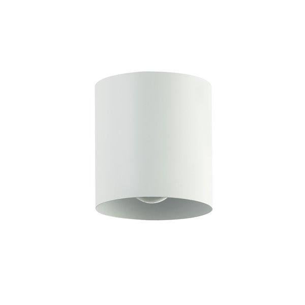 Plafonnier Theron de 4,75 po de style moderne/contemporain blanc mat à ampoule à incandescence de Dainolite