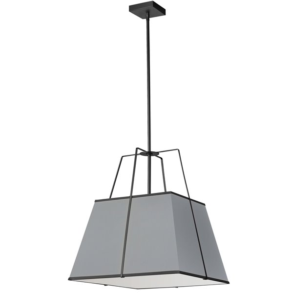 Luminaire suspendu moderne/contemporain gris Trapezoid par Dainolite de 18 po