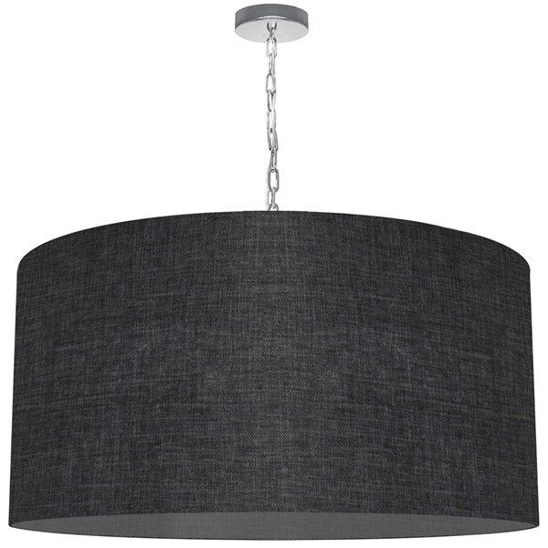 Luminaire suspendu transitionnel de 32 po noir Braxton par Dainolite
