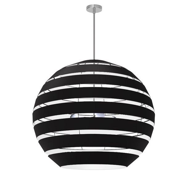 Lustre Hula moderne/contemporain noir à 4 lumières par Dainolite