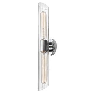 Luminaire pour meuble-lavabo transitionnel à 2 lumières de 25 po Samantha par Dainolite, chrome poli