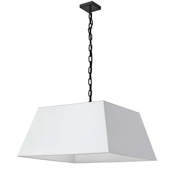Luminaire suspendu moderne/contemporain blanc Milano par Dainolite de 26 po