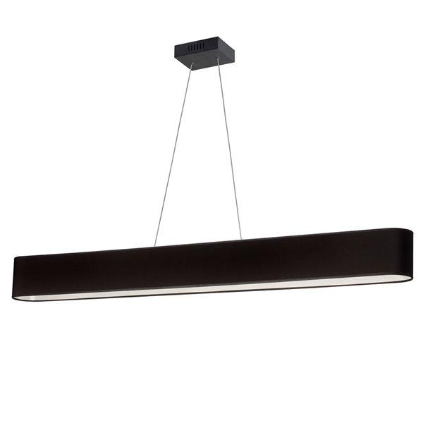 Luminaire suspendu DEL moderne/contemporain noir Aubrey par Dainolite de 51 po