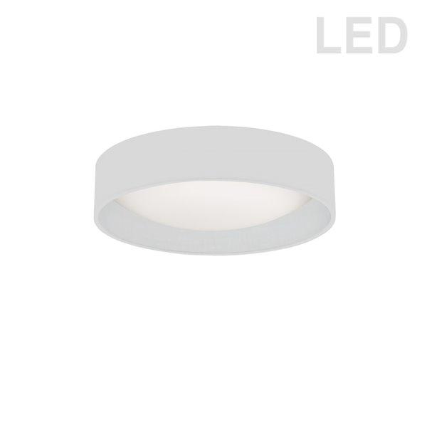 Plafonnier de 11 po de style moderne/contemporain blanc à système à DEL intégré de Dainolite