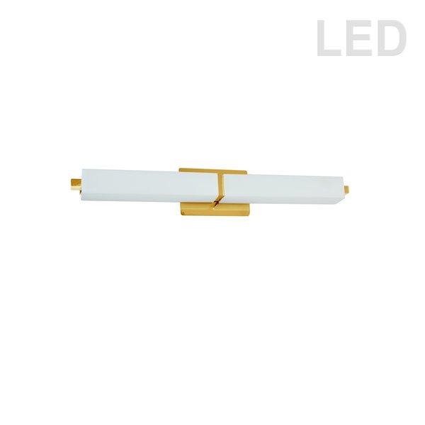 Luminaire pour meuble-lavabo moderne à 1 lumière de 27 po par Dainolite, laiton antique