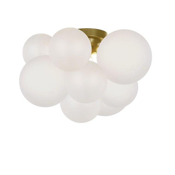 Plafonnier Miles de 14,25 po opale à ampoule halogène de Dainolite