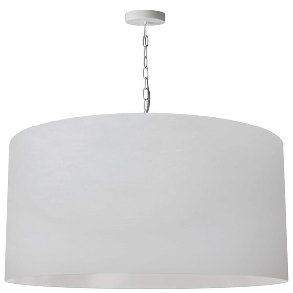 Luminaire suspendu transitionnel blanc Braxton par Dainolite, 32 po