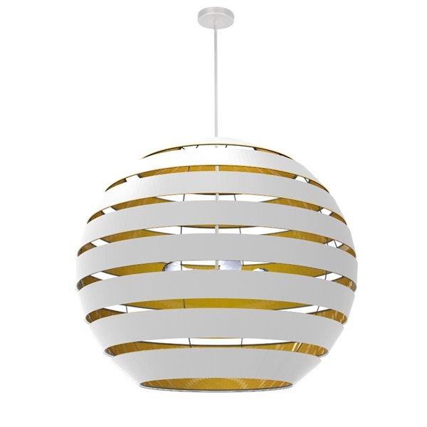 Lustre Hula moderne/contemporain blanc et or à 4 lumières par Dainolite