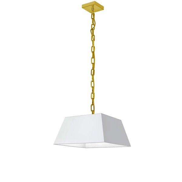 Luminaire suspendu moderne/contemporain blanc Milano par Dainolite de 14 po