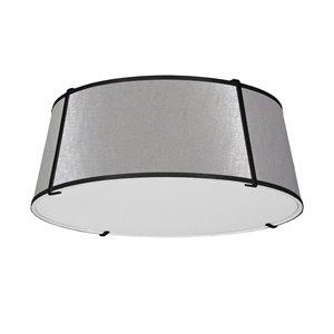Plafonnier Trapezoid de 22 po de style moderne/contemporain gris à ampoule à incandescence de Dainolite
