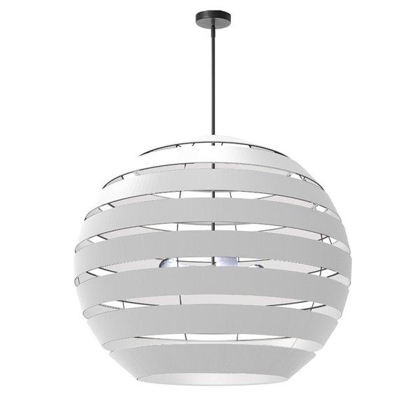 Lustre moderne/contemporain blanc à 4 lumières Hula par Dainolite