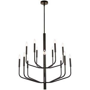 Lustre moderne/contemporain Eleanor noir mat à 14 lumières par Dainolite