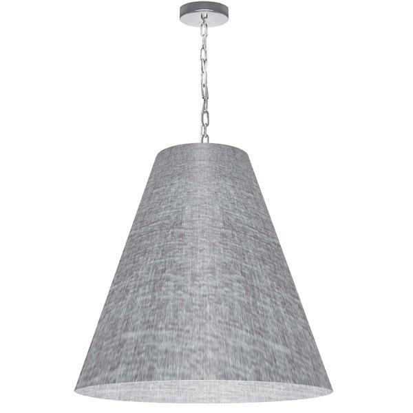 Luminaire suspendu transitionnel gris pâle Anaya par Dainolite de 26 po