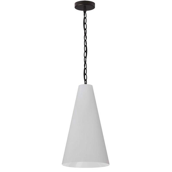 Luminaire suspendu transitionnel de 12 po blanc Anaya par Dainolite