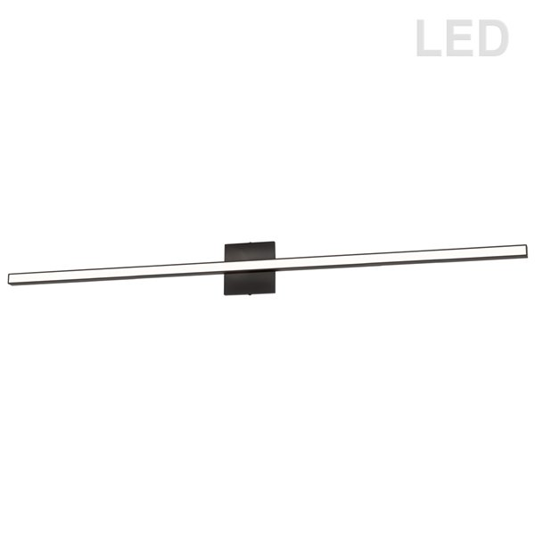 Luminaire pour meuble-lavabo moderne à 1 lumière de 47,5 po Arandel par Dainolite, noir