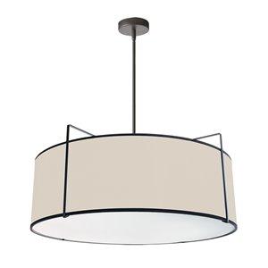 Luminaire suspendu moderne/contemporain crème et noir Trapezoid par Dainolite de 24 po
