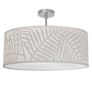 Plafonnier Cozumel de 19 po de style moderne/traditionnel blanc à ampoule à incandescence de Dainolite