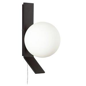 Applique murale Valemont de 5,5 po L noire mate de style moderne à 1 ampoule halogène de Dainolite
