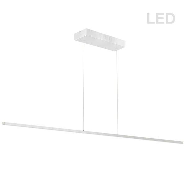 Luminaire suspendu DEL moderne/contemporain blanc mat Array par Dainolite de 72 po
