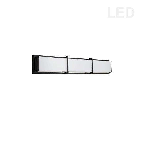 Luminaire noir pour meuble-lavabo moderne à 1 lumière Winston par Dainolite de 24 po