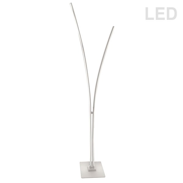 Lampe sur pied de 65,15 po Vincent de Dainolite, blanc mat