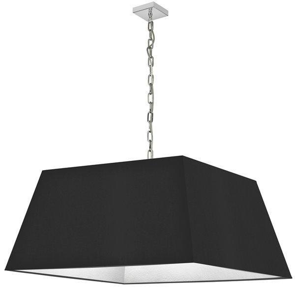 Luminaire suspendu moderne/contemporain noir et chromé Milano par Dainolite de 32 po
