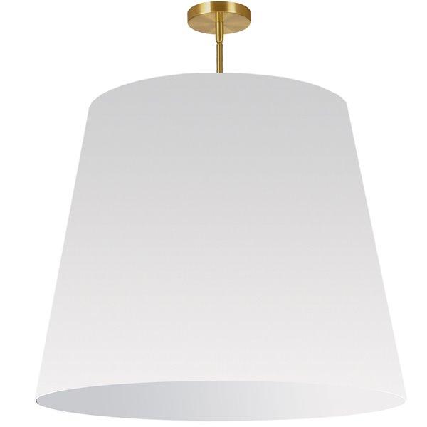 Luminaire suspendu moderne/contemporain blanc Oversized Drum par Dainolite de 32 po