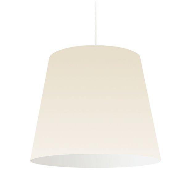 Luminaire suspendu moderne/contemporain crème Oversized Drum par Dainolite de 26 po