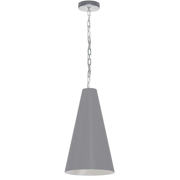 Luminaire suspendu transitionnel gris Anaya par Dainolite de 12 po