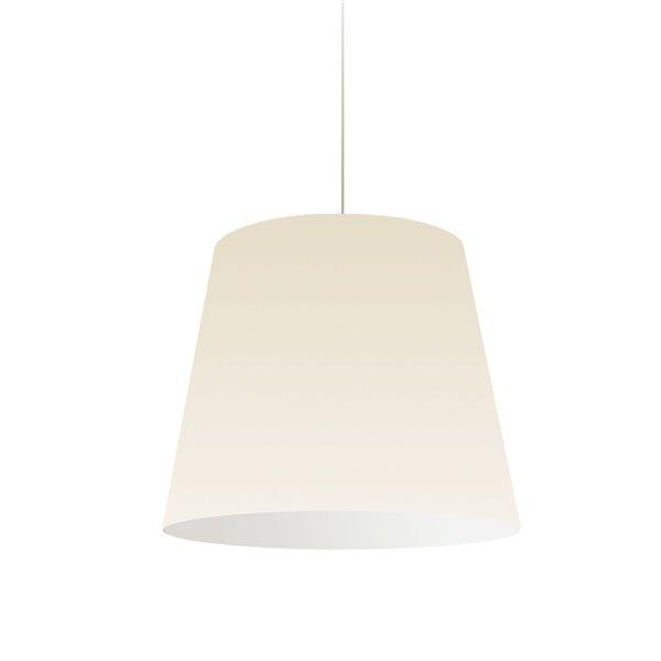 Luminaire suspendu moderne/contemporain crème Oversized Drum par Dainolite de 20 po