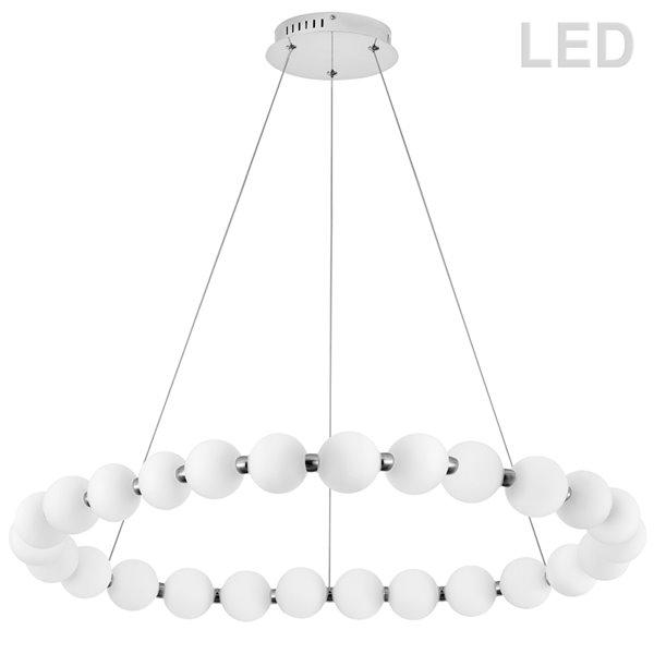 Lustre Shelby moderne/contemporain blanc à 1 lumières par Dainolite