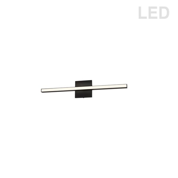 Luminaire pour meuble-lavabo moderne à 1 lumière de 23,8 po Arandel par Dainolite, noir