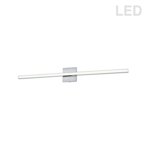 Luminaire pour meuble-lavabo moderne à 1 lumière de 35,5 po Arandel par Dainolite, chrome poli