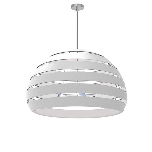 Lustre moderne/contemporain Hula blanc à 4 lumières de Dainolite